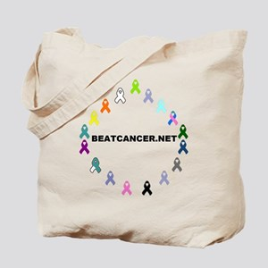 BEATCANCER.NET Logo Tote Bag