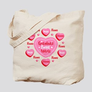 Grandma's Sweethearts Personalized Tote Bag