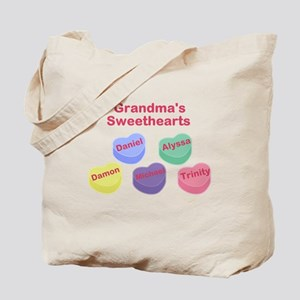 Custom Grand kids sweethearts Tote Bag