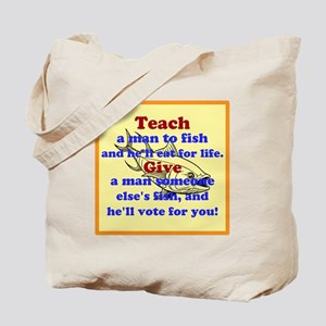 Teach a Man to Fish Tote Bag