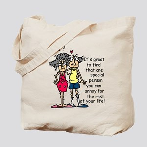 Marriage Humor Tote Bag