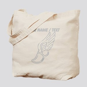 Custom Silver Winged Running Shoe Tote Bag