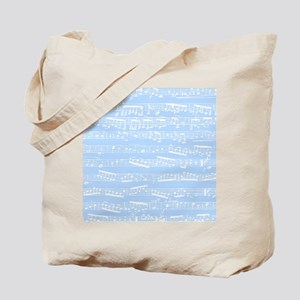 Light Blue music notes Tote Bag