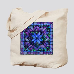 Blue Quilt Tote Bag