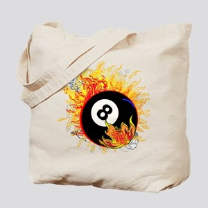 Fiery Eight Ball Tote Bag