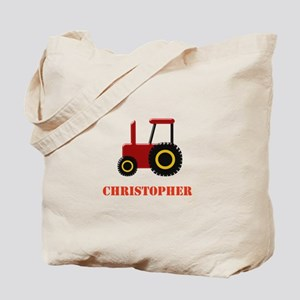 Personalised Red Tractor Tote Bag