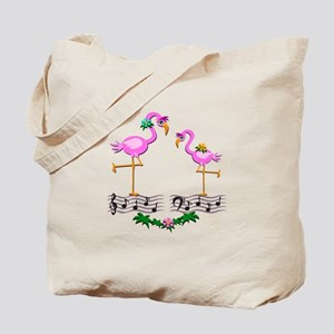 Dancing Pink Flamingos - Tote Bag