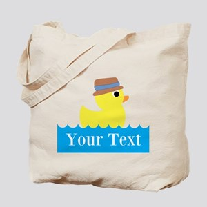 Personalizable Rubber Duck Tote Bag