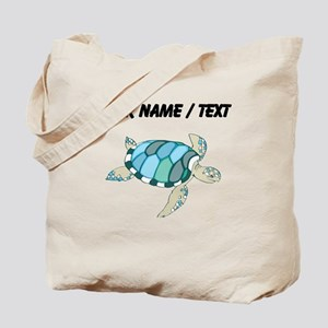 Custom Blue Sea Turtle Tote Bag