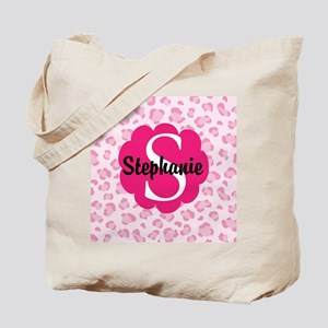 Personalized Pink Name Monogram Gift Tote Bag