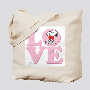 LOVE - Snoopy Tote Bag