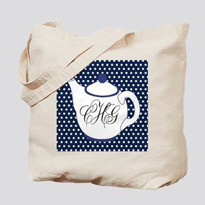 Personalizable Teapot Monogram Tote Bag