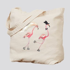Bride and Groom Flamingos Tote Bag