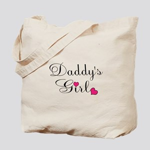 Daddys Girl Pink Hearts Tote Bag