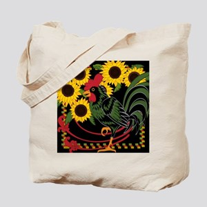 Rooster In The Sunflowers Tote Bag