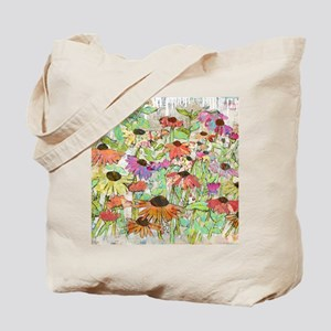 Floral Daisy Spring Tote Bag