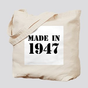 Made in 1947 Tote Bag