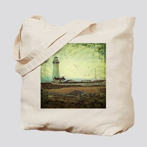 coastal nautical vintage lighthouse Tote Bag