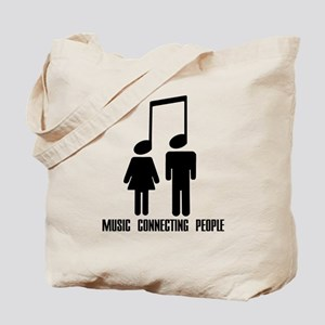 Music Connecting People Tote Bag