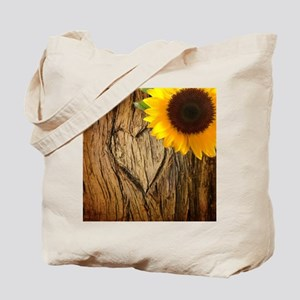 sunflower heart country Tote Bag