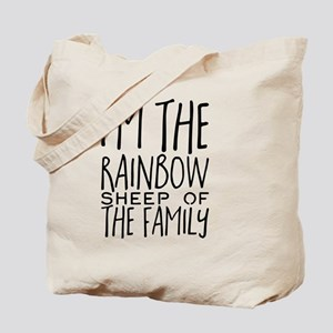 I'm the rainbow sheep of the family Tote Bag
