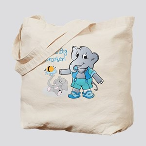 Elephant, I'm A Big Brother Tote Bag