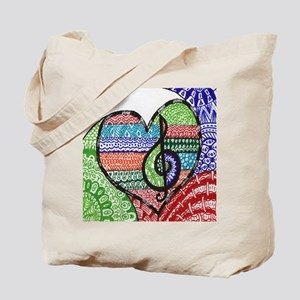Music is a Song in Your Heart Tote Bag