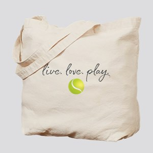 Live Love Play Tennis Tote Bag