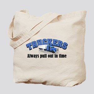 Truckers Pull Out in Time Tote Bag