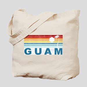 Retro Palm Tree Guam Tote Bag