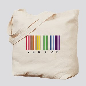 gay pride barcode Tote Bag