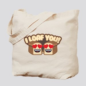 Emoji I Loaf You Tote Bag