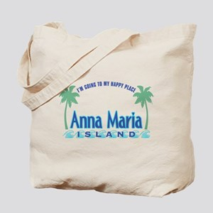 Anna Maria Island-Happy Place Tote Bag