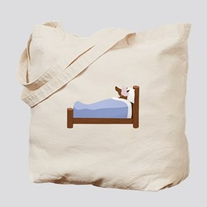 Wolf In Bed Tote Bag