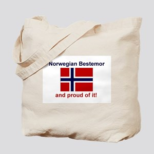 Proud Norwegian Bestemor Tote Bag