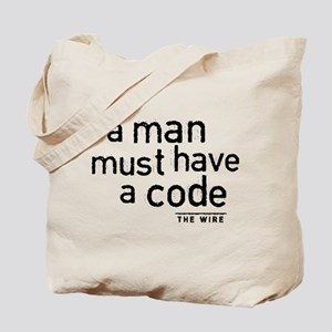 A Man Must Have A Code Tote Bag