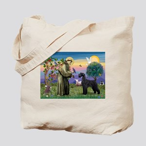 St. Francis & Giant Schnauzer Tote Bag