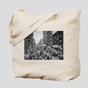 New York, Market on Mulberry Street - Vintage Tote