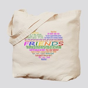 FriendsTVQuotesHeart Tote Bag