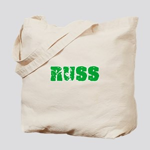 Russ Name Weathered Green Design Tote Bag