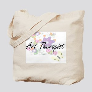 Art Therapist Artistic Job Design with Fl Tote Bag