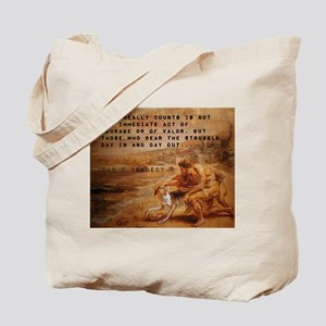 What Really Counts - John F Kennedy Tote Bag