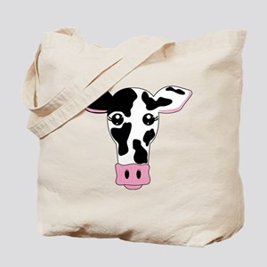 Sweet Cow Face Design Tote Bag