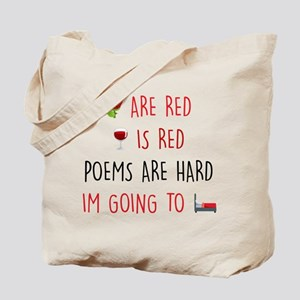 Emoji Roses Wine Bed Tote Bag