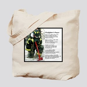 Old Version Firefighter Prayer Tote Bag