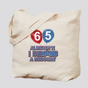 65 years birthday gifts Tote Bag