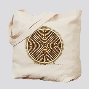 Brown Bayeux Cathedral Labyrinth Tote Bag