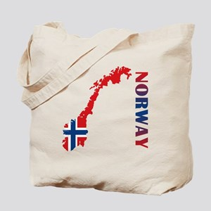 Map Of Norway Tote Bag
