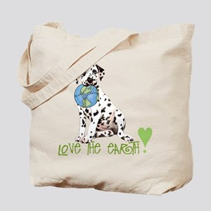 Earth Day Dalmatian Tote Bag