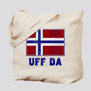 Uff Da Norway Flag Tote Bag